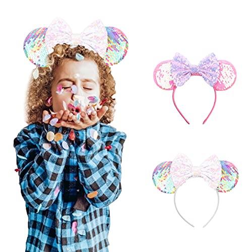 K-Park Diadema de lazo con orejas de animales, con purpurina, para fiestas, princesa, punto rojo, para cosplay, disfraz diplomtico