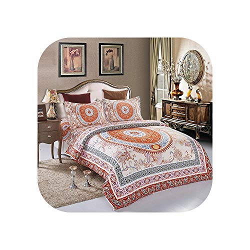 Bedroom Sheets   New Home Textiles Design Bedding Sets 4Pcs Bed Sheets Queen Size Bohemian Style-Gray-Queen