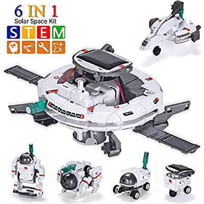 AESGOGO Science Experiments for Kids 6-12,STEM Projects for Kids Ages 7-13,Solar Space Robot Kits,Building Toys for Kids Age 8-14,Birthday Christmas Easter Idea Gifts for 7 8 9 10 11 Year Old Boys