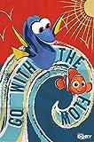 1art1 Findet Dorie - Go with The Flow, Nemo Und Dory Poster