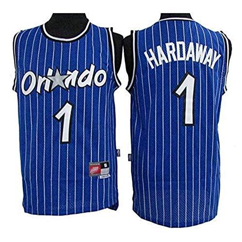 HANJIAJKL Basketball Spieler-Trikot - NBA Orlando Magic #1 Anfernee Hardaway Trikot,Swingman Edition Jerseys Jungen Männer Fan-Trikot,Blau,XL:185cm/85~95kg