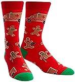Sock It To Me Mens Break a Leg Gingerbread Man Holiday Socks