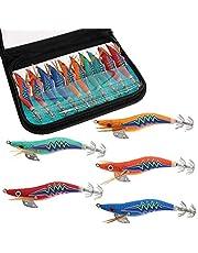 Croch Squid Jig - Cebo para pesca de peces tibetanos (10 unidades, 5 unidades)