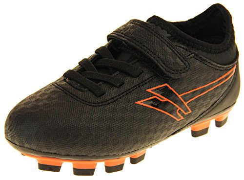 Gola Activo5, scarpe da calcio con tacchetti per erba sintetica, modello ragazzo/ragazza, AKA800, Nero