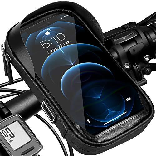 Soporte para teléfono de bicicleta Bolsa de manillar impermeable Soporte...