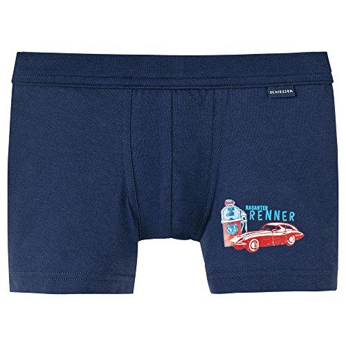 Schiesser Jungen original classics Shorts Boxershorts, Blau (dunkelblau 803), 104