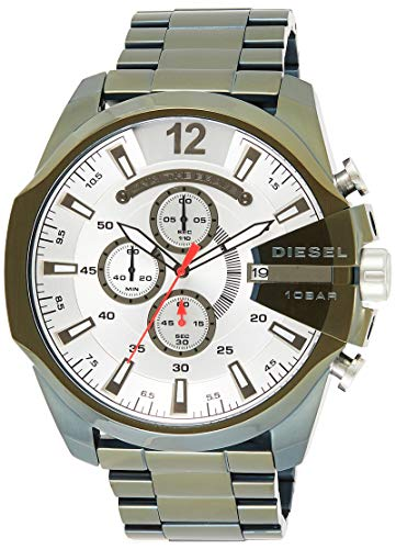 Diesel Herren Chronograph Quarz Uhr mit Edelstahl Armband DZ4478