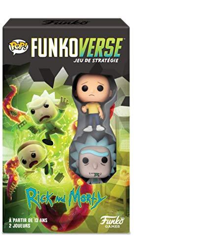 Funko- Pop Funkoverse: Rick and Morty Interdimensional Conflict Board Game, 43484, Multicolor