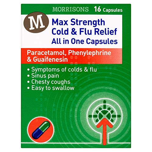 Morrisons Max Strength Cold & Flu Relief All in One Capsules 16 Capsules