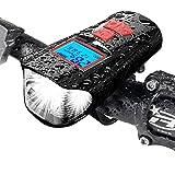 自転車 ライト、サイクルコンピュータ 自転車、USB 充電式 LED 自転車 ヘッドライト、ライトモード4種類、防水耐震取り付けが簡易1500MHA電池容量夜間乗り、キャンプ、ハイキング、冒険、釣りに最適です