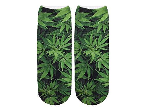 Unbekannt Socken bunt mit lustigen Motiven Print Socken Motivsocken Damen Herren ALSINO, Variante wählen:SO-L047 Marihuana
