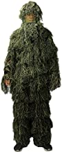 LOOGU Ghillie Suit, Camo Suit Woodland and Forest Design Military Leaf Hunting and Shooting Accessories Tactical Camouflage Clothing Free Size for Airsoft, Wildlife Photography Halloween