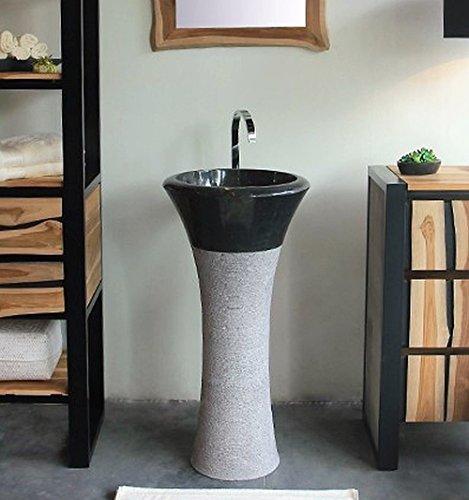 wohnfreuden Marmor Waschtischsäule Tulip 45x90 cm