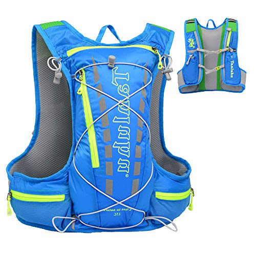 EASY BIG Hydration Pack Backpack Running Hydration Vest for Women and Men Outdoor Hiking, Cycling, Camping with 15L Capacity (Blue)