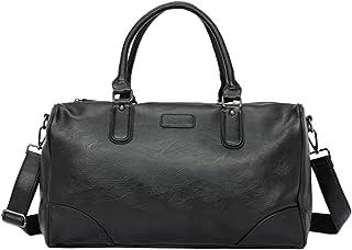 Travel Duffel Bag حقيبة سفر القماش الخشن للسفر الجلود بين عشية وضحاها عطلة نهاية الأسبوع للرجال Luggage Brearon Hand Bag A...