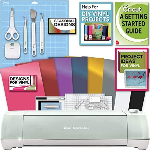 Cricut Explore Air 2 Machine Bundle Beginner Guide, Tool Kit, Vinyl Pack, Designs and Project Inspiration