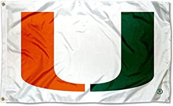 Miami Canes Large White 3x5 College Flag