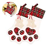 Baiwka 2 Pack Pet Dog Christmas Stockings with Paw, Personalised Dog Stocking for Christmas Decorations, Santa's Favorite Cat Holiday Decor Theme,Perfect for Small Gifts&Candy(18