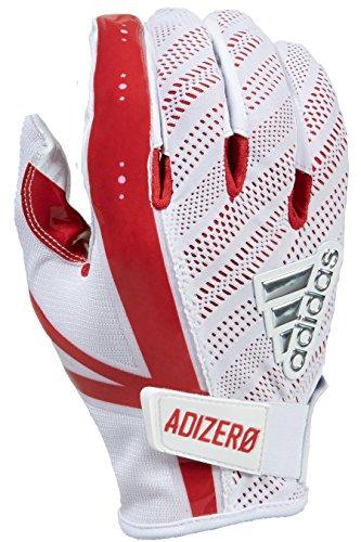 adidas Adizero 5-Star 6.0 - Guantes de fútbol para hombre - AF0801-114-00, S, Blanco/Rojo