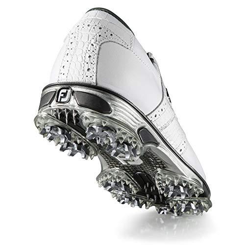 FootJoy Men's DryJoys Tour Golf Shoes, White/White Croc, 9.5 M US