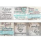XPCARE 6 Pack 5d Diamond Painting Kits Round Full Drill Acrylic Embroidery Cross Stitch for Home Wall Decor Family Love(Canvas 12X12In)