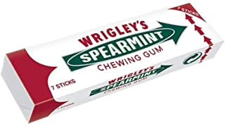 [Wrigley's] 14のリグリーのスペアミントガム7本のスティック18グラムパック - Wrigley's Spearmint Chewing Gum 7 Sticks 18g Pack of 14 [並行輸入品]