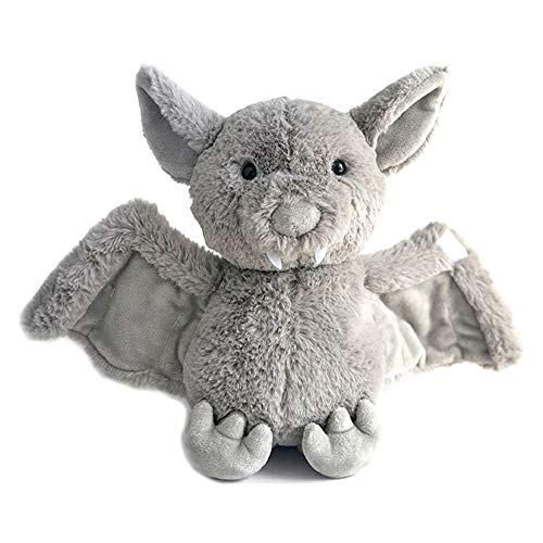 Rainlin Plush Bat Stuffed Animal Bashful Toys Furry Gifts for Kids Grey 11 inches