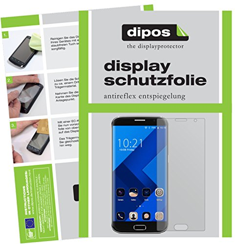 dipos I 2X Schutzfolie matt kompatibel mit BLUBOO Edge Folie Bildschirmschutzfolie