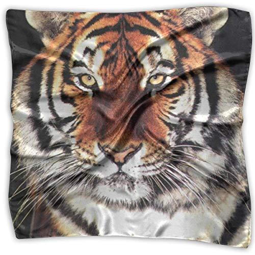 Power Tiger Animals Bedruckter Seidenschal Quadratisches kleines Taschentuch Taschentuch Trend 6826