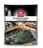 Arnaboldi Alga Nori per Sushi Giapponese, 48 Fogli di Alghe Nori Essiccate da 126g [6 Confezioni da 8 Fogli]