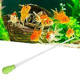 Rehomy Dispositivo de succión para tanque de peces de acuario manual, herramienta de medición