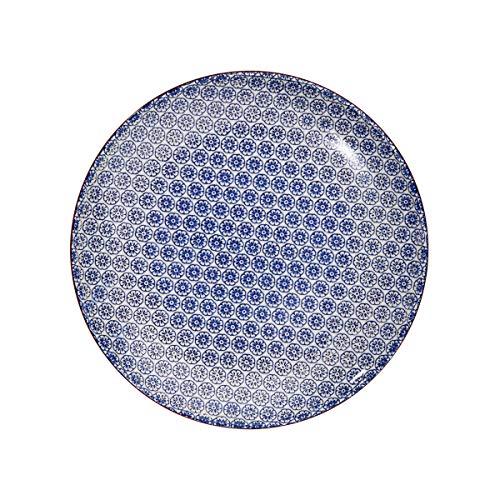 BUTLERS RETRO Essteller - Schöne Porzellan- Teller mit Muster | RETRO Essteller in 6 verschiedenen Farben & Mustern