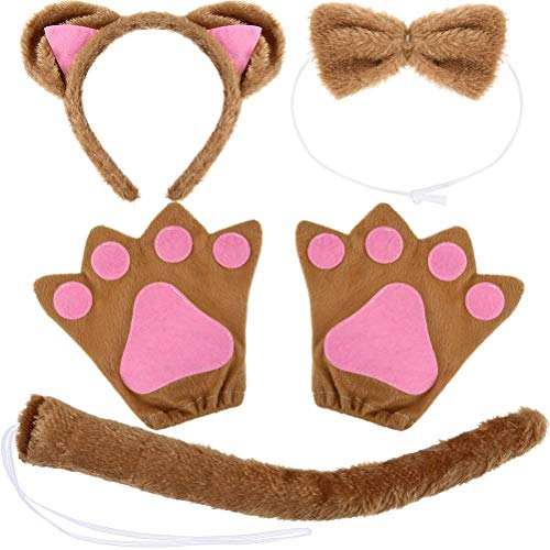 Neborn Kitten Cat Maid Cosplay Juegos de rol Anime Disfraz Guantes Paw Ear Tail Tie Party Todo el Conjunto