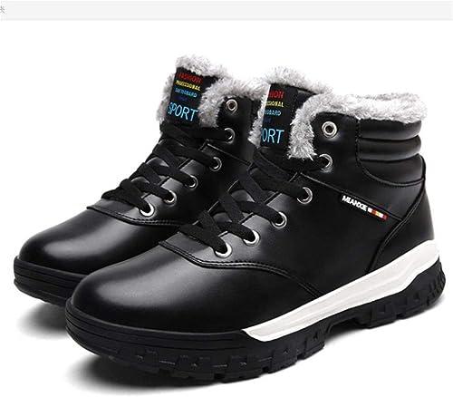 Hauszapatos de algodón para hombres Caída e Invierno Ocio, además de Hauszapatos Antideslizantes Calientes de Cachemira (Color   negro, Tamaño   44)
