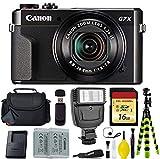 Canon PowerShot G7 X Mark II Point and Shoot Digital Camera + Battery + Digital Flash + Camera Case + 16GB Memory Card - International Version