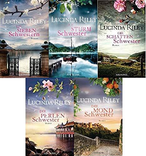 Die Sieben Schwestern von Lucinda Riley 1-5 als Taschenbuch-Set : 1. Die Sieben Schwestern - 2. Die Sturmschwester - 3. Die Schattenschwester - 4. Die Perlenschwester - 5. Die Mondschwester