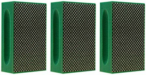 KGS PRO- Bloques de lijado manual diamantados (lote de 3, verde)