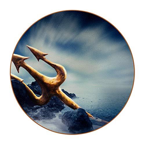 Bennigiry Juego de 36 posavasos para bebidas náuticas Trident Ocean Drink Coaster para Home Cup Taza de café y cerveza