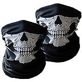Xpassion 3 Stück Premium Sturmmaske Totenkopf Schwarz Skull Maske Multifonction Sturmmaske Ghost für Motorrad Fahrrad Ski Paintball Gamer Karneval Kostüm