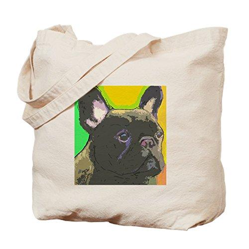 CafePress Brindle French Bulldog Tote Bag Natural Canvas Tote Bag, Reusable Shopping Bag