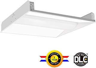 Cinoton 2x2 FT LED Troffer Light, 35W Volumetric Troffer, 4375Lumens 4000K, 120-277V AC Input, Fluorescent Replacement, Commercial Drop Ceiling Panel Light for Office, School,Hotel