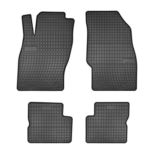 Frogum 0692 Gummifußmaten, solide, oryginal Passform Opel Corsa D 2006-2014 angepasst – Schwarz