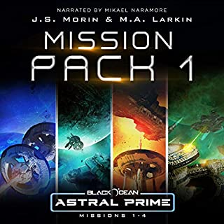 Astral Prime Mission Pack 1: Missions 1-4     Black Ocean: Astral Prime Mission Pack              Auteur(s):                                                                                                                                 J.S. Morin,                                                                                        M.A. Larkin                               Narrateur(s):                                                                                                                                 Mikael Naramore                      Durée: 20 h et 20 min     9 évaluations     Au global 5,0