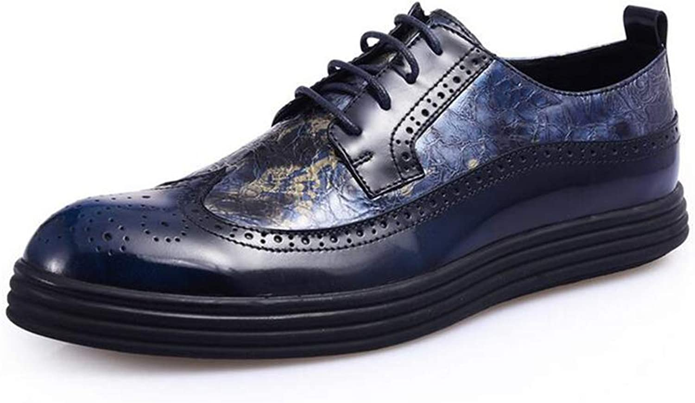 Y -H Män's Casual skor s, Fall Fall Fall Winter Low Top Glassy skor s Tide Flow Personlighet Flat Deck skor (färg  blå, Storlek  39)  Fri leverans och retur