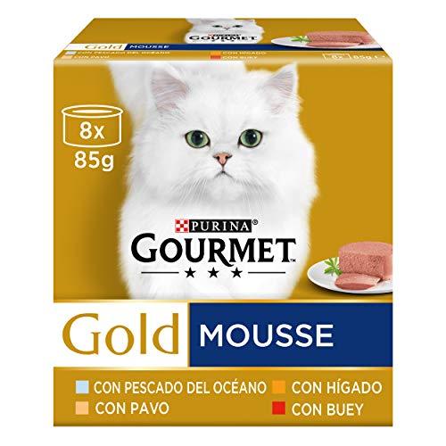 Purina Gourmet Gold Mousse Assortiment de pâtées pour Chat