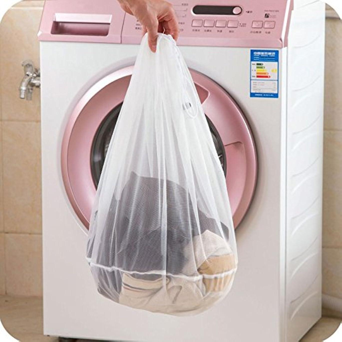 数寛大さ含むguoyihuaメッシュランドリーバッグ、ホワイトメッシュ素材ドローストリング開閉。理想的なマシン洗濯可能メッシュランドリーバッグ工場、大学、寮、アパートDwellers L 107551XAVA09B