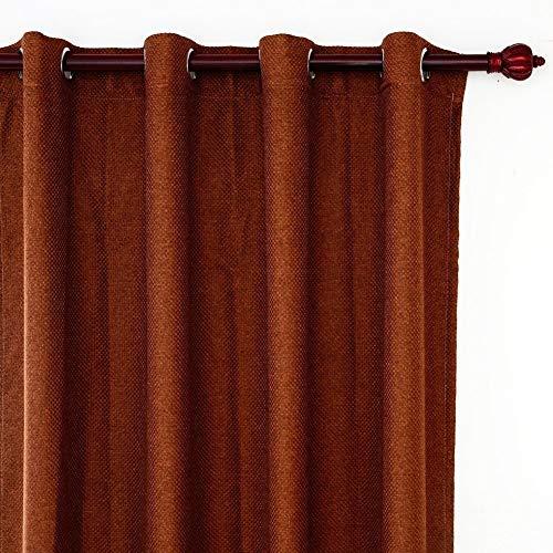 Eastery Top Finel Blickdicht Solid Faux Linen Vorhang Verdunkelungsvorhang Moderner Dekoschal Einfacher Stil Thermogardine 140X215Cm 1 Stueck Braun (Color : Braun, Size : 140X215)