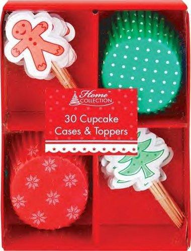 LOT DE 6 - Noel Décoratif - Noël étuis de Cupcake & Décoration (30 par paquet)