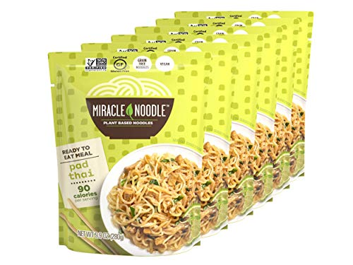 Miracle Noodle Ready to Eat Pad Thai Meal, Shirataki Noodles, Pasta Alternative, Gluten Free, Paleo Friendly, 9.9 oz, Pack of 6