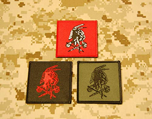 NSWDG Red Squadron Shooter Patch Set Seal Team Six DevGru Red Team ST6 Hook
